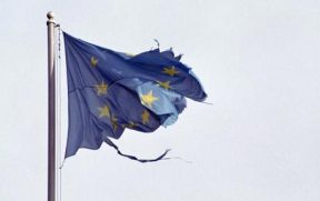 This image has an empty alt attribute; its file name is EU-FLag-tattered.png